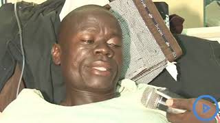 A middle-aged man is nursing serious injuries at the Bungoma County