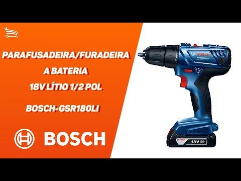 Parafusadeira/Furadeira a Bateria 18V Lítio 1/2 Pol. com Carregador 2 Baterias e Maleta - Video