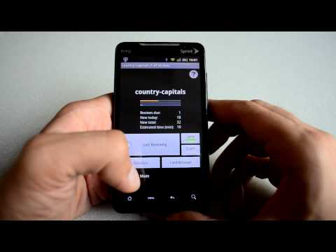 Video of AnkiDroid Flashcards