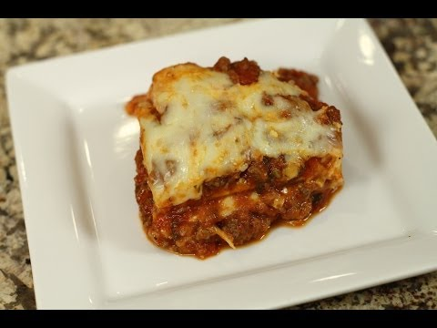 Lasagna With Meat Sauce - Make Jar Sauce Taste Homemade by Rockin Robin