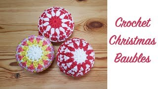 Christmas Series Ep 1: Make Your Own Easy Crochet Baubles!