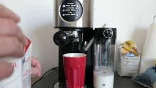 Test Kaffeemaschine mit Milchaufschäumer