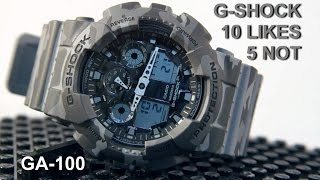 G-Shock GA100CM-8A Grey Camo X-Large Feature Review: What I like, and why I don't