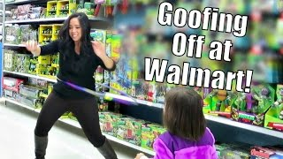 Goofing Off at Walmart! - November 01, 2015 -  ItsJudysLife Vlogs