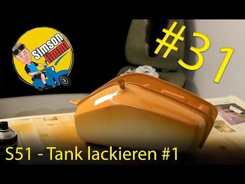 Simson S51 Neuaufbau -  Teil 31 den Tank Lackieren #1