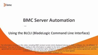 BSA: Introduction to BLCLI