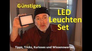 Günstiges dimmbares 5600K Neewer USB-LED-Videolicht/Fotolicht mit Stativ+Farbfilter Review deutsch