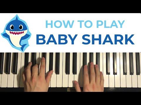 BABY SHARK (Piano Tutorial Lesson)
