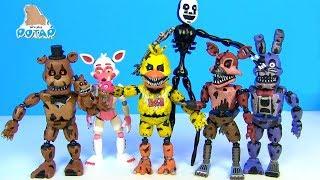 ФНАФ! Ночные Марионетки Фредди, Фокси, Чика и Бонни FNAF Видео для детей! Мультик от My toys Potap