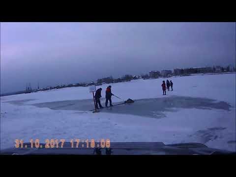 Спасение женщины провалившейся под лед в Иркутской области