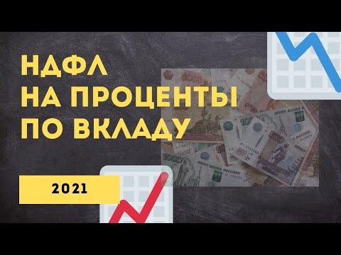 НДФЛ на проценты по вкладу с 2021