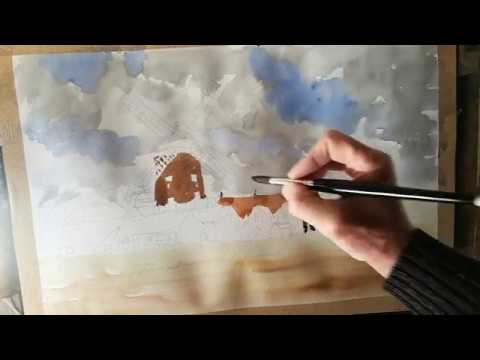 Thumbnail of How to paint a loose landscape.