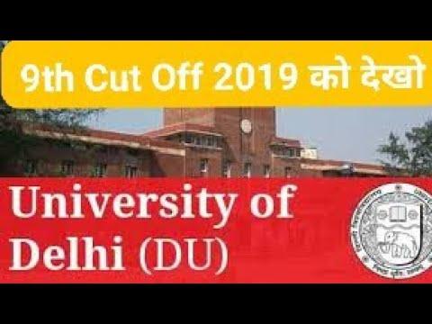 DU 9TH CUT OFF 2019 #DU #DU_Admission #Duform #DU_OnlineAdmission #Du_Colleges