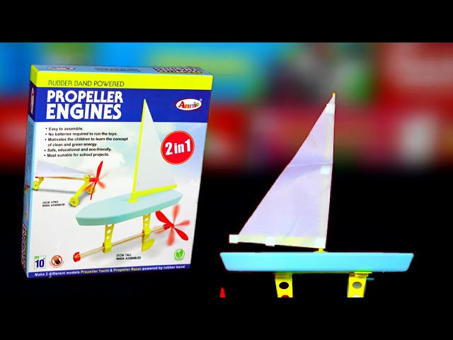 Propeller Engines Experiment Kit,Yacht Boat & Paper Plane Car, Unboxing & Review.