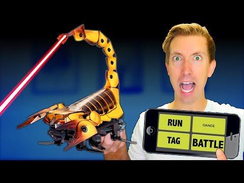 Build a ROBOT in Real Life! - Battle Robots vs Fruit Ninja (DIY Toys - Amazon Tech Unboxing Review)