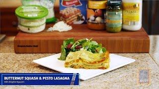 Creamy Butternut and Pesto Lasagna with ALDI and Brigitte Nguyen