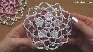 CROCHET Flower Motif Pattern Tutorial #1