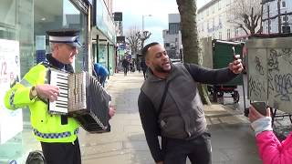 Irish Policeman Plays Accordion in London