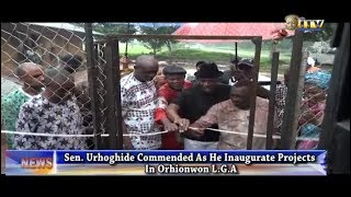 Sen. Urhorghide commended as he inaugurate projects in Orhionwon