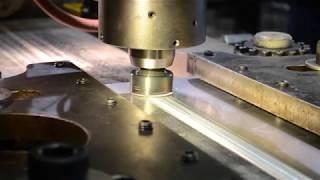 MegaStir FSW cBN tool on metal matrix alum and 2219 lap joi