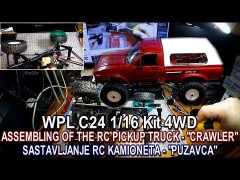 WPL C24 1/16 Kit 4WD Assembling of the RC Pickup Truck-Crawler (Bangood)