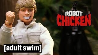 8 Classic Luke Skywalker Moments | Robot Chicken Star Wars | Adult Swim