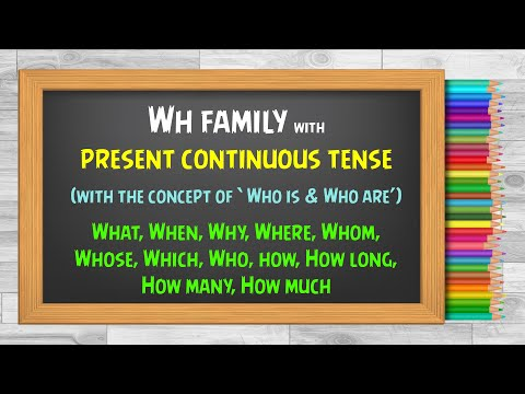 WH questions in The Present Perfect Continuous Tense