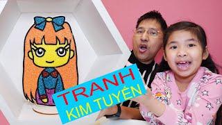 Bố Pha Màu Kim Tuyên Cho Bé Bún Tô Tranh Bạn Gái - Glitter Coloring For Picture