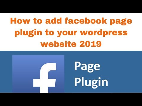 How to add facebook page plugin to your wordpress website 2019