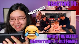 REACTING TO: WHO'S THE BETTER BABYSITTER!? FT. ACE FAMILY