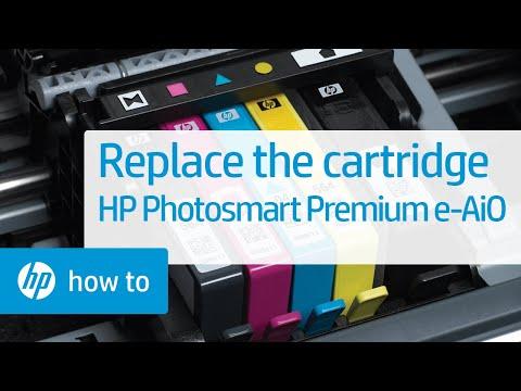 Replacing a Cartridge - HP Photosmart Premium e-All-in-One Printer (C310a)