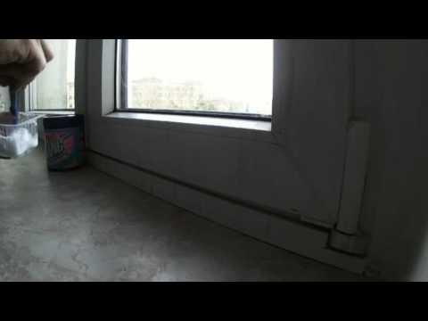 verschimmelten Fensterrahmen reinigen mit Cillit Bang
