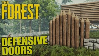DEFENSIVE DOORS | The Forest | Let's Play Gameplay | S13E11