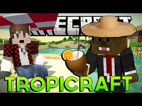 "Minecraft Tropicraft Mod Lets Play #1 ""TROPICAL ISLANDS MOD"" w/ BajanCanadian & JeromeASF"