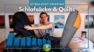 Alles über Trekking Schlafsäcke & Quilts - Ultraleicht Empfehlungen