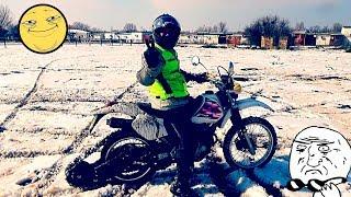 Снегоход HONDA XR250 Покатушки 2018