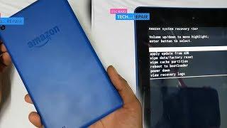Amazon Fire 7'' Tab Hard Reset || Password Reset || amazon fire tab factory reset