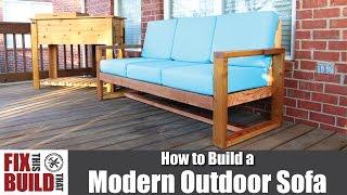 DIY Modern Outdoor Sofa | How To Build