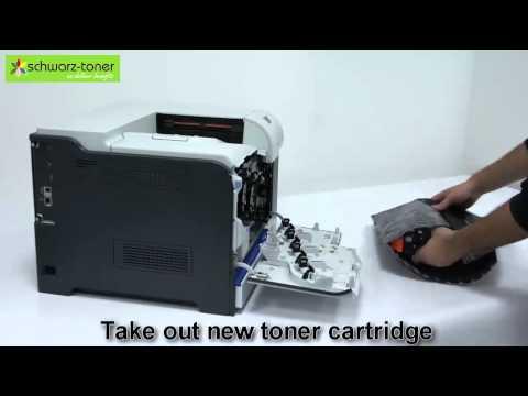 LaserJet Enterprise 500 color M 551 dn Toner Cartridge Replacement - user guide (CE400A/01A/02A/03A)