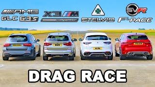 BMW v AMG v Alfa v Jaguar: SUV DRAG RACE