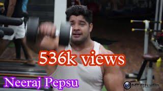 Workout Motivation | Neeraj Pepsu | Fitness One Gym | Village Fatehpur Beri