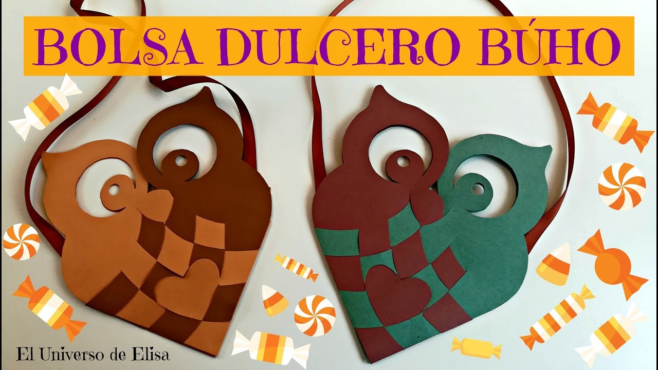 Complementos para Halloween, Búho Dulcero, Manualidades para Halloween