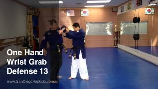 Hapkido One Hand Wrist Grab Defense 13