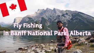 Fly Fishing in Banff National Park, Alberta, Canada カナダのバンフ国立公園でフライフィッシング