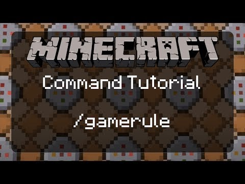 Using Commands in Minecraft: /gamerule | A Must Know Command for Map Makers! | 1.12