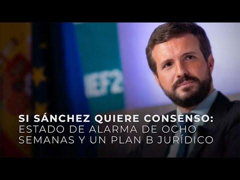 Si Sánchez quiere consenso: estado de alarma de 8 ...