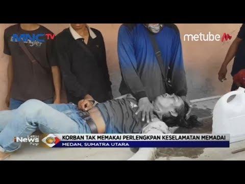 Perbaiki Kabel Listrik, 2 Pekerja Tersetrum & Jatuh dari Ketinggian 50 Meter di Medan - LIP 16/07