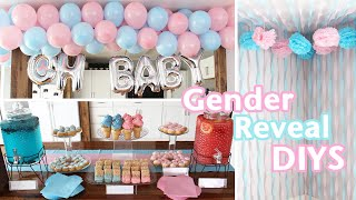 GENDER REVEAL PARTY DIYS | Decorations & Food With Easy DIY Balloon Garland