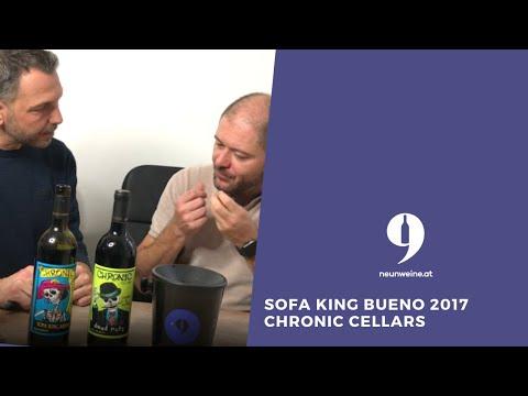 9Weine-Founder Herbert & Michael präsentieren den Sofa King Bueno 2017 von Chronic Cellars