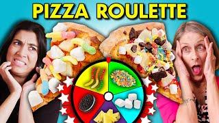 Gen Z Vs. Boomers Pizza Roulette Trivia Challenge | People Vs. Food